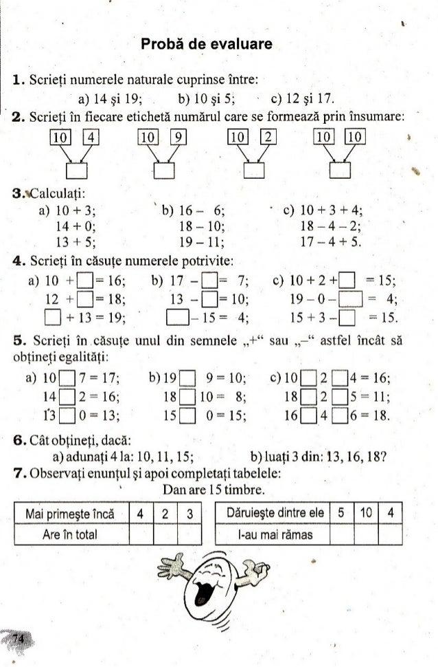 Culegere Matematica Clasa 1