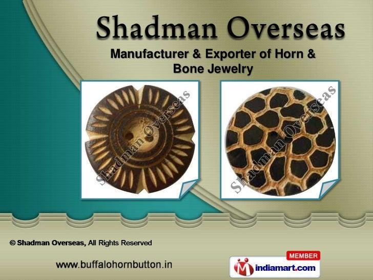 Manufacturer & Exporter of Horn &         Bone Jewelry