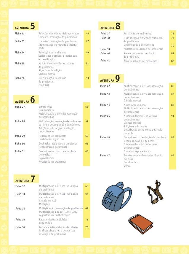 Matemática 3 - A Grande Aventura - Caderno de fichas) Slide 3