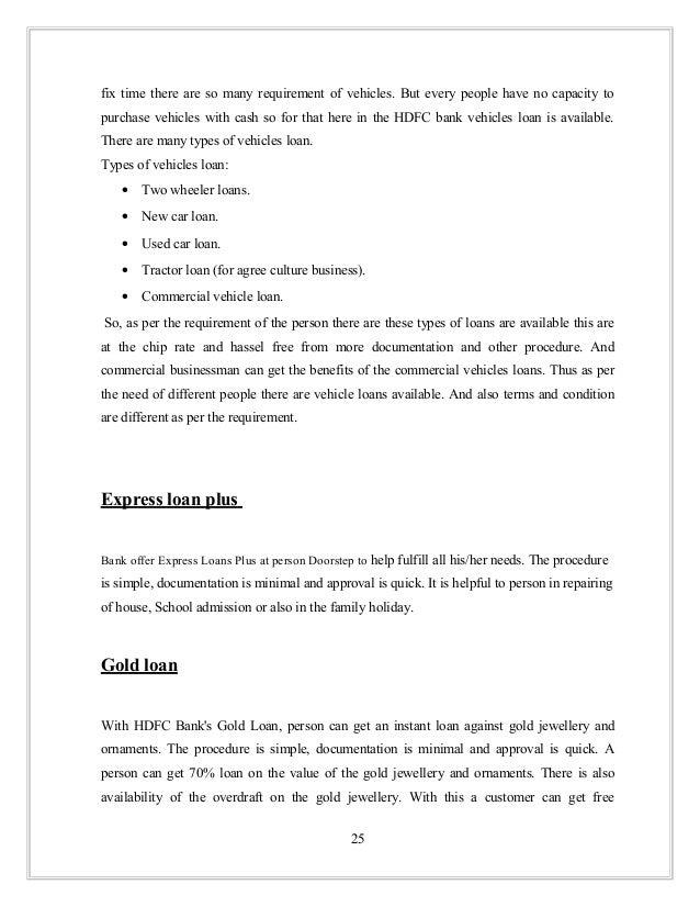 hdfc bank two wheeler loan procedure