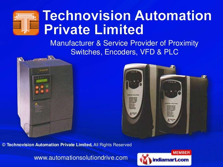 Manufacturer & Service Provider of Proximity                            Switches, Encoders, VFD & PLC© Technovision Automa...