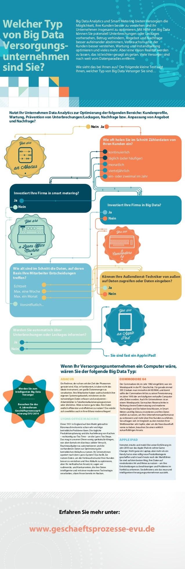 Welcher Typ von Big Data Versorgungs- unternehmen sind Sie? Big Data Analytics und Smart Metering bieten Versorgern die Mö...