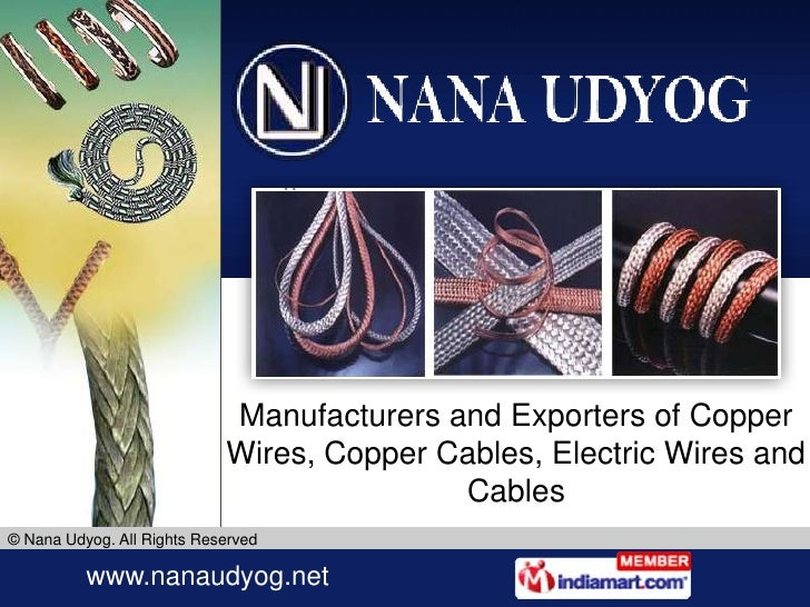 Manufacturers and Exporters of Copper Wires, Copper Cables, Electric Wires and Cables<br />