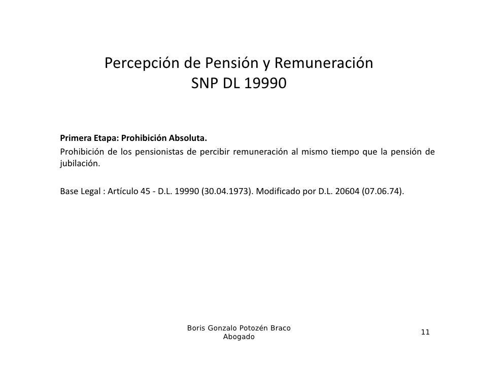 PercepcióndePensiónyRemuneración            e cepc ó de e s ó y e u e ac ó                       SNPDL19990Primera E...
