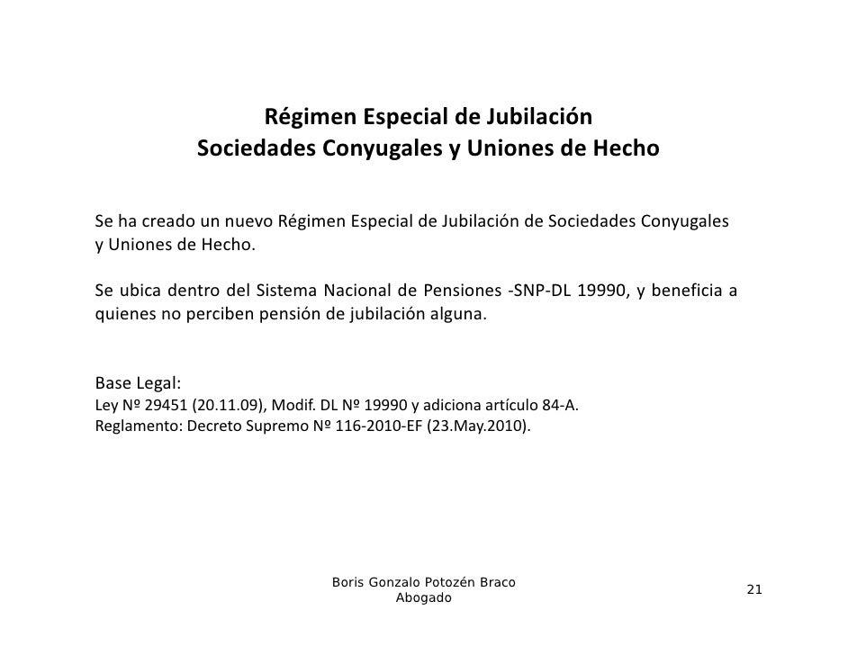 RégimenEspecialdeJubilación                    Régimen Especial de Jubilación              SociedadesConyugalesyUnio...