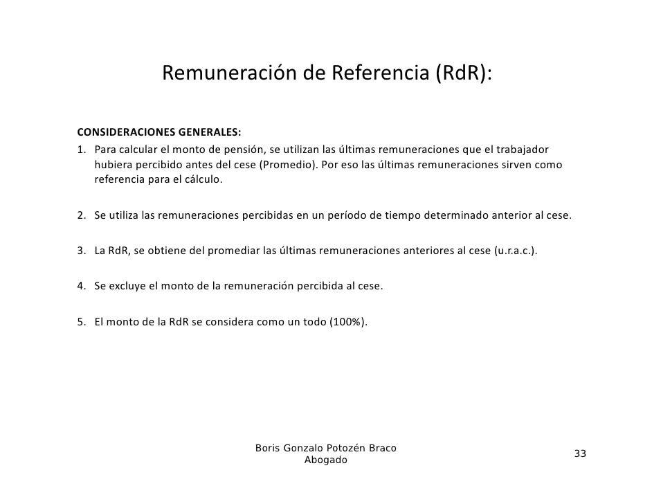 RemuneracióndeReferencia(RdR):CONSIDERACIONESGENERALES:1. Paracalcularelmontodepensión,seutilizanlasúltimas...