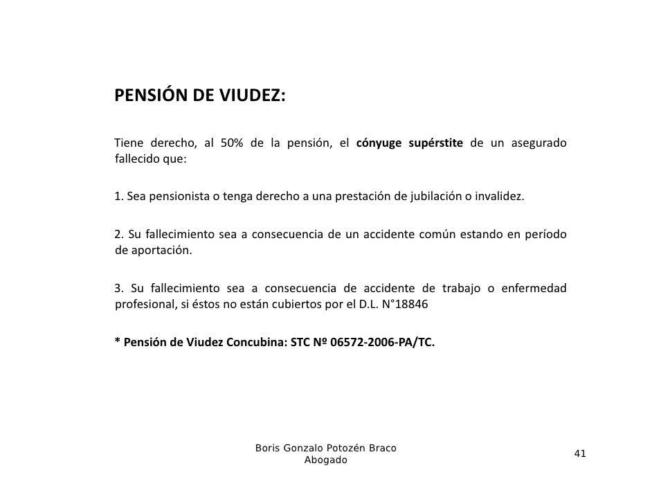 PENSIÓNDEVIUDEZ:PENSIÓN DE VIUDEZ:Tiene derecho, al 50% de la pensión, el cónyuge supérstite de un aseguradofallecido qu...