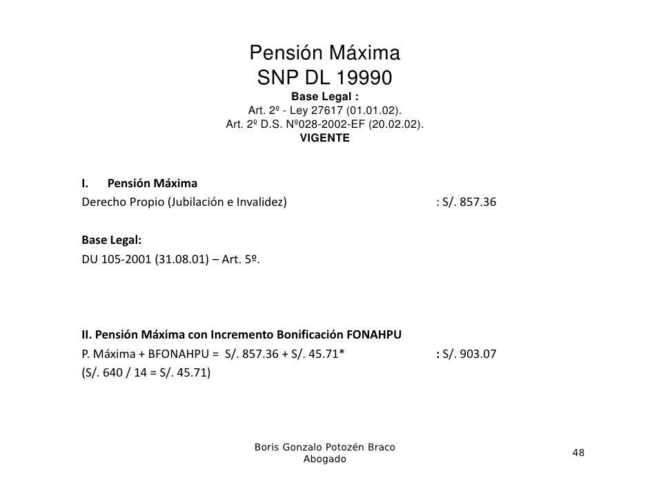 Pensión Máxima                                SNP DL 19990                                          Base L                ...