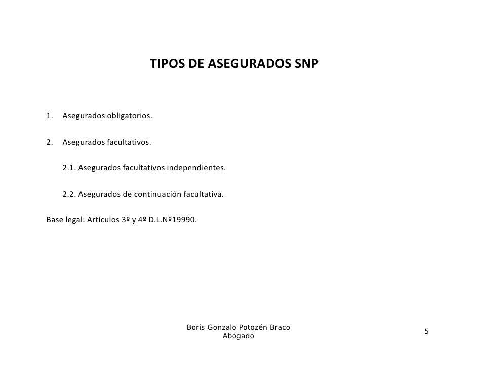 TIPOSDEASEGURADOSSNP1.1    Asegurados obligatorios.     A      d    bli t i2.   Asegurados facultativos.     2.1. Asegu...