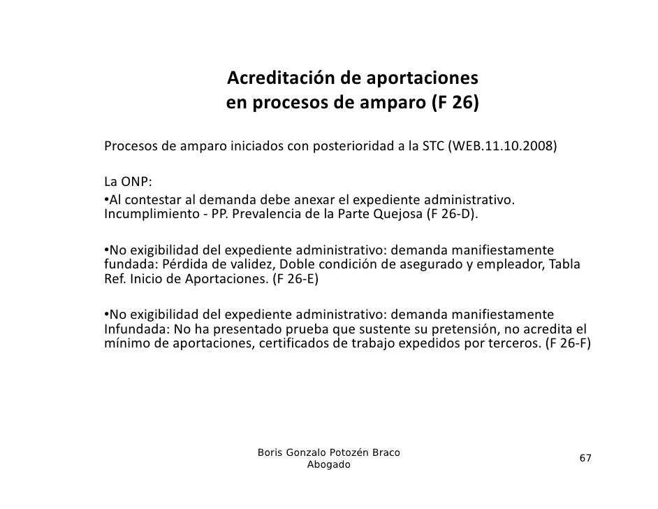Acreditacióndeaportaciones                    enprocesosdeamparo(F26)Procesosdeamparoiniciadosconposteriorida...