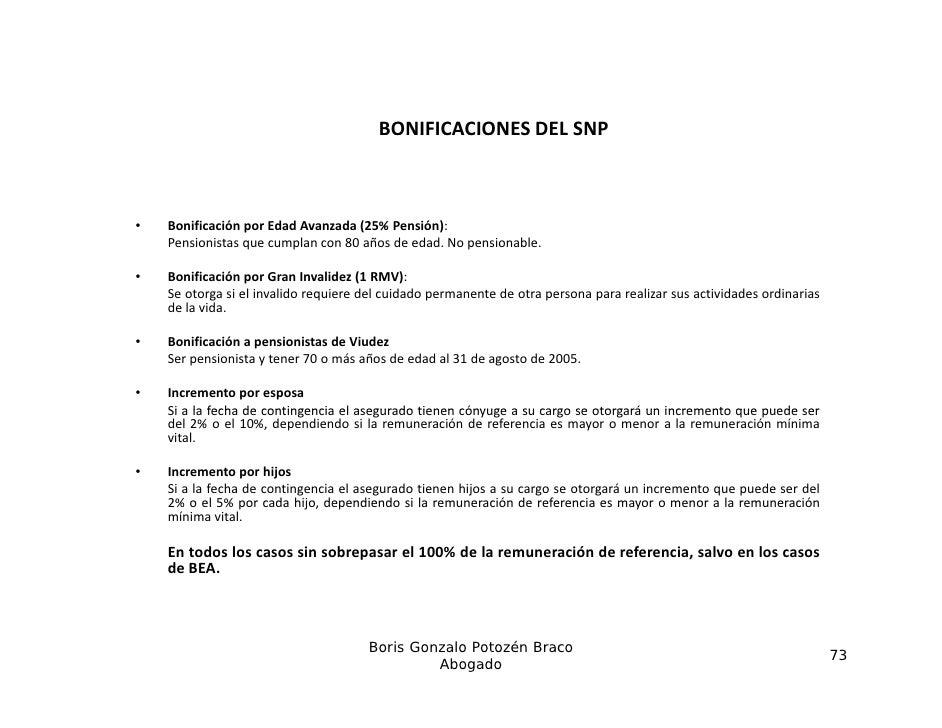 BONIFICACIONESDELSNP                                        BONIFICACIONES DEL SNP•   Bonificación por Edad Avanzada (25...