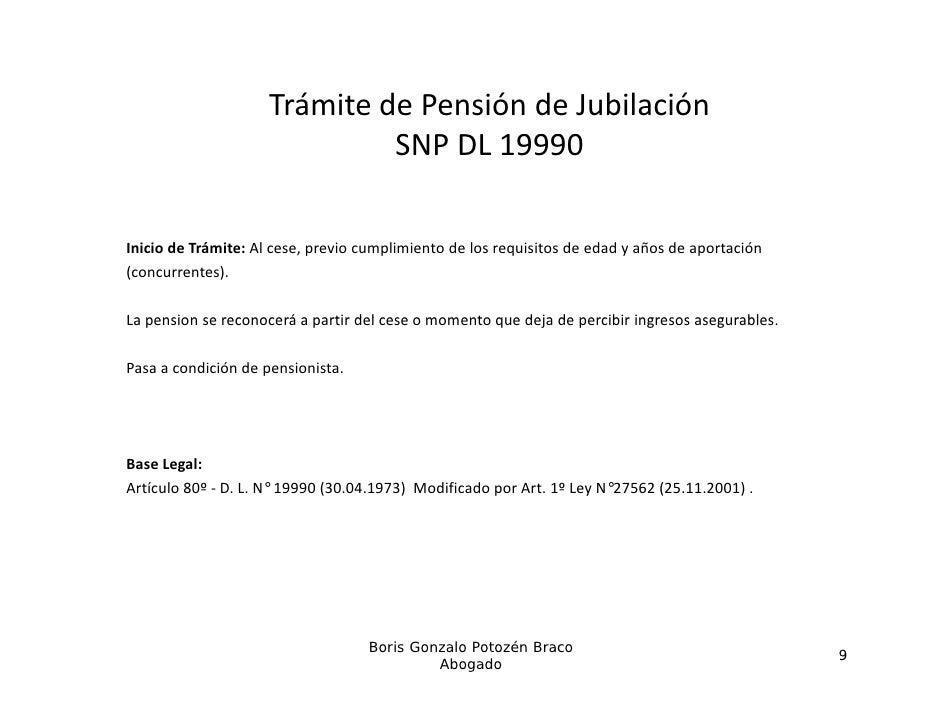 TrámitedePensióndeJubilación                              SNPDL19990                              S       9990Inicio...