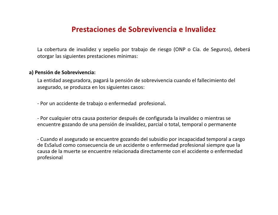 El seguro complementario de trabajo en riesgo sctr - Se cobra la pension el mes de fallecimiento ...