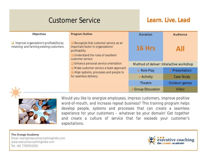 Customer Service                                                   Learn. Live. Lead                Objectives            ...