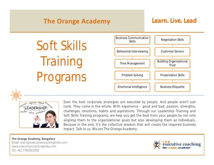 Leadership certifications, live online training sessions, soft