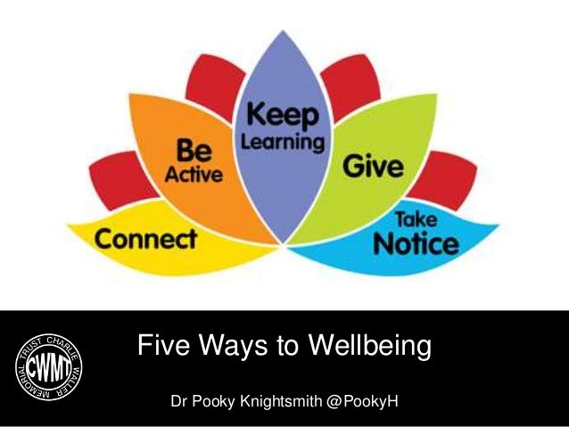 Five Ways to Wellbeing Dr Pooky Knightsmith @PookyH