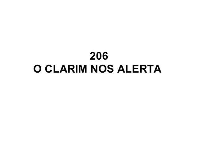 206 O CLARIM NOS ALERTA
