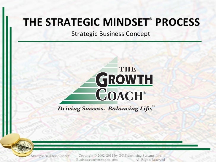 THE STRATEGIC MINDSET ®   PROCESS Strategic Business Concept  Strategic Business Concept Copyright © 2002-2011 by GC Franc...