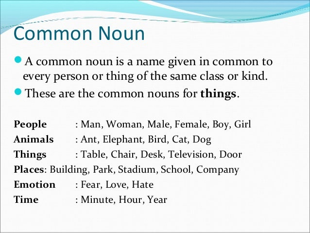 ... Christmas; 6. Common Noun ...  sc 1 st  SlideShare & nouns