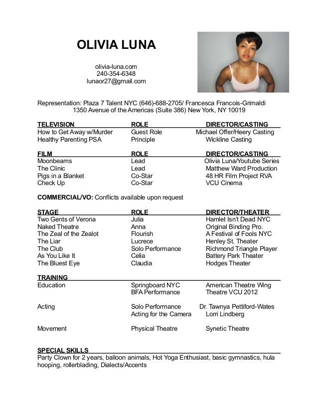 Resume Acting Template Google Search Fonts Formatting Pinterest  Actor Resume