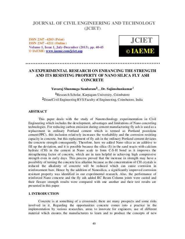 Journal of Civil Engineering and Technology (JCIET), ISSN 2347 –4203 (Print), ISSN 2347 –4211 (Online) Volume 1, Issue 1, ...