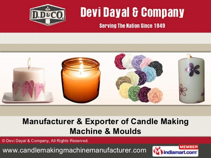 Manufacturer & Exporter of Candle Making Machine & Moulds