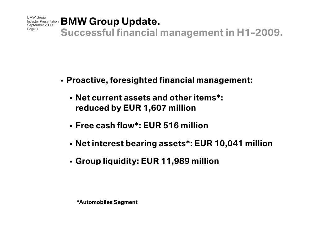 Investor Presentation of BMW Group 2009 Slide 3