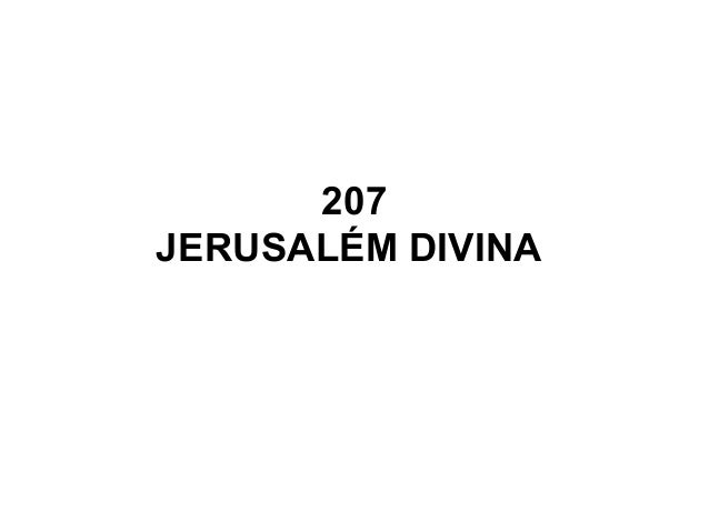 207 JERUSALÉM DIVINA