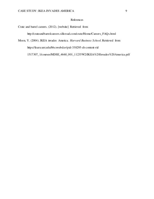 harvard business case study ikea invades america