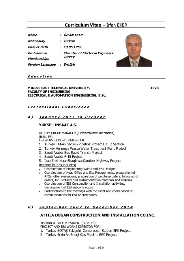 irfan eker cv january 2015