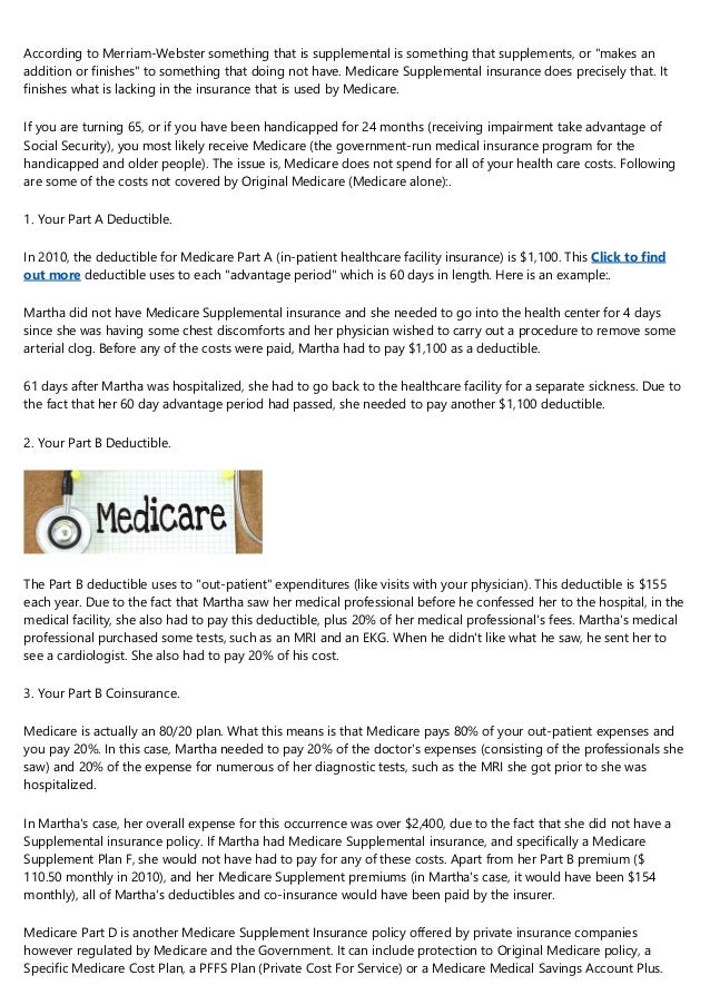 Why You Required Medicare Supplemental Insurance