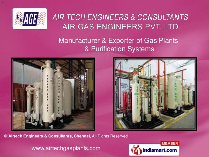 Manufacturer & Exporter of Gas Plants<br /> & Purification Systems<br />