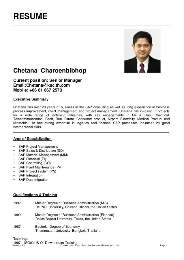 Chetana Charoenbibhop CV July 2015