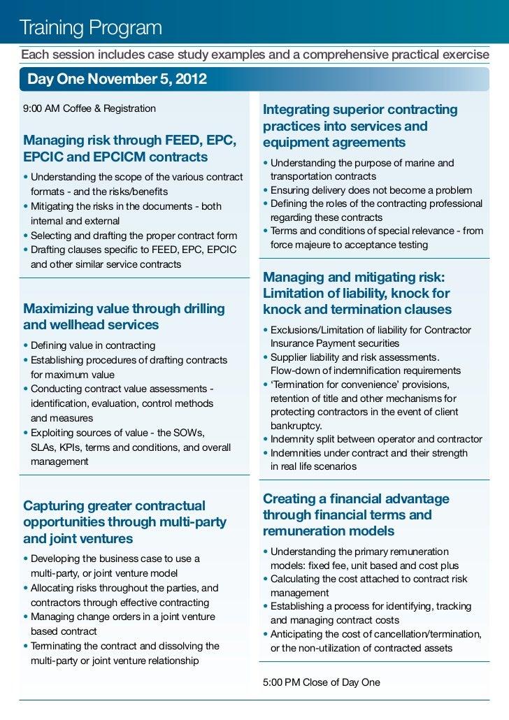 case study on risk management