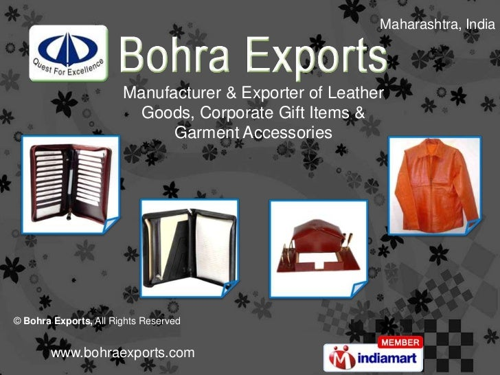 Maharashtra, India                       Manufacturer & Exporter of Leather                         Goods, Corporate Gift ...