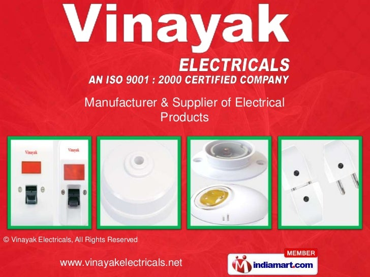Manufacturer & Supplier of Electrical Products<br />
