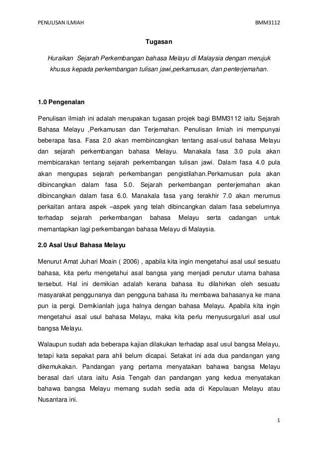 20778959 Sejarah Bahasa Melayu Penterjemahan Jawi Istilah