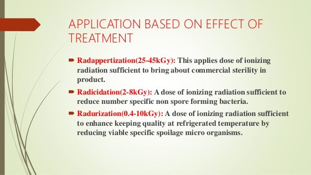 irradiation of fruits and vegetables pdf