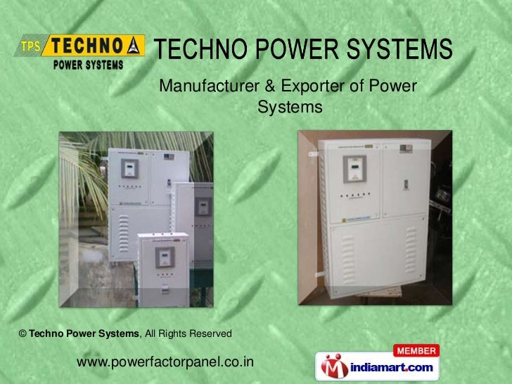 Manufacturer & Exporter of Power                                        Systems© Techno Power Systems, All Rights Reserved...