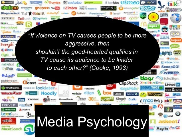 "Media Psychology """"If violence on TV causes people to be moreIf violence on TV causes people to be more aggressive, thenag..."
