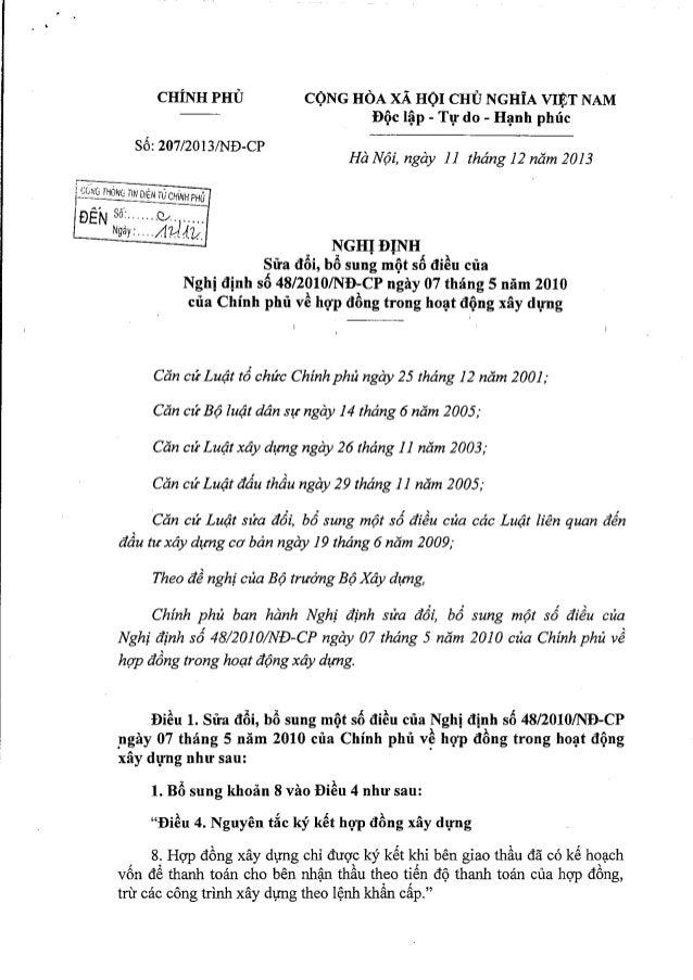 Nghị định số 207/2013/NĐ-CP