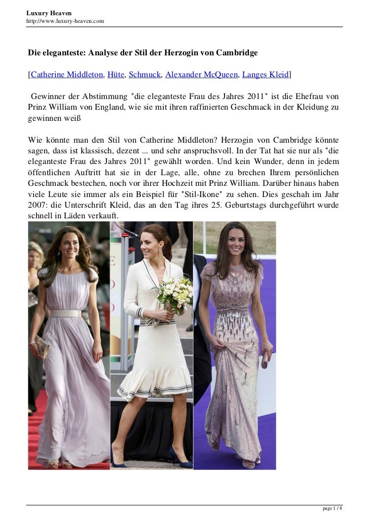 Luxury Heavenhttp://www.luxury-heaven.comDie eleganteste: Analyse der Stil der Herzogin von Cambridge[Catherine Middleton,...