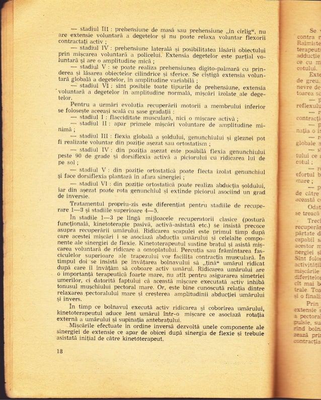 - stadiul llr : prehensiune cie m.sd san prehensiune ,,in cirlig(, nuare extensie voluntarir a d,egeteior gi nr.r poate re...