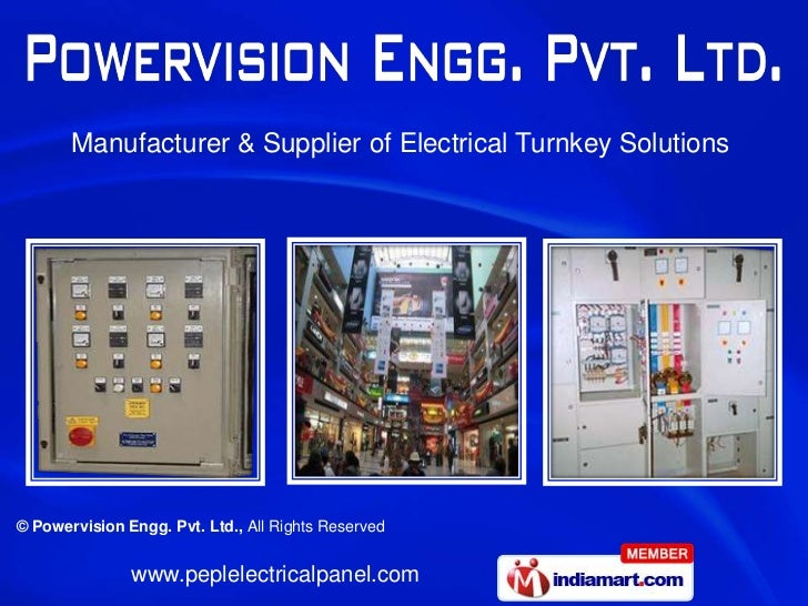 Manufacturer & Supplier of Electrical Turnkey Solutions© Powervision Engg. Pvt. Ltd., All Rights Reserved               ww...