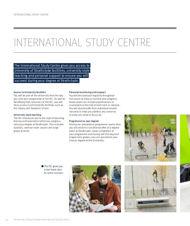 University of Strathclyde strathclyde isc_brochure_1617_16022016