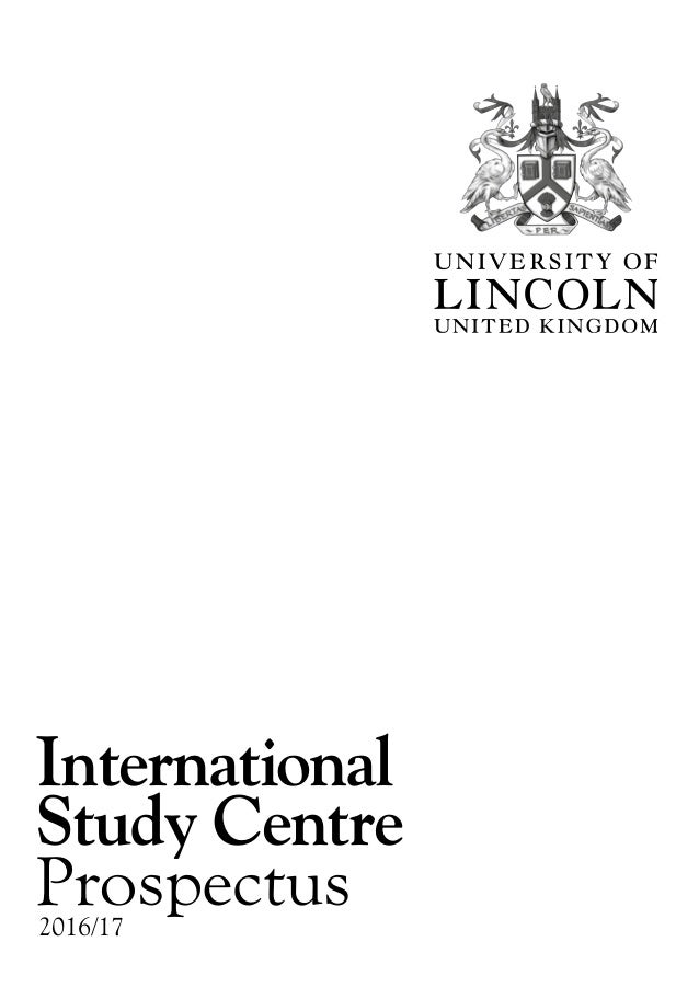 2016/17 International Study Centre Prospectus