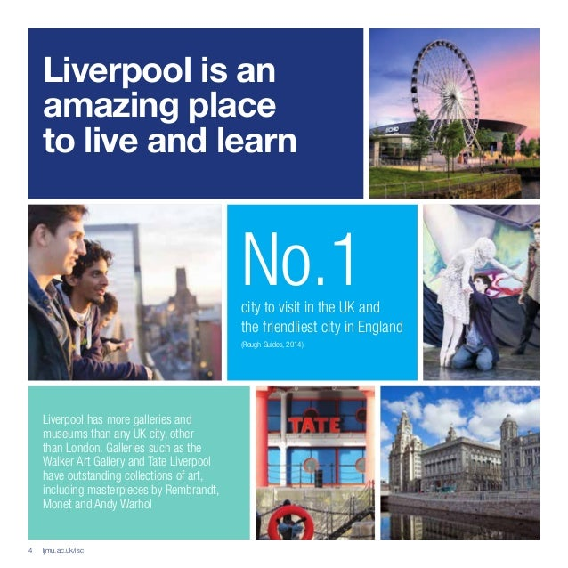 Amazing Places To Live In London: Liverpool John Moores University Ljmu Isc Brochure 2016 Lr
