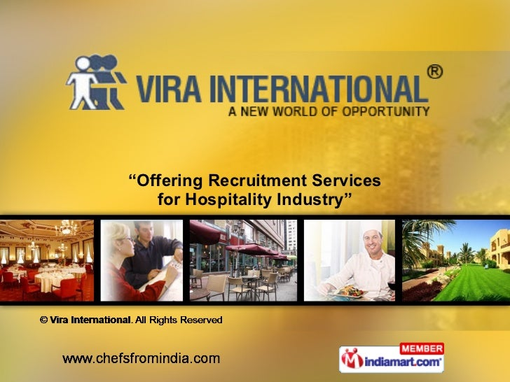 """ Offering Recruitment Services for Hospitality Industry"""