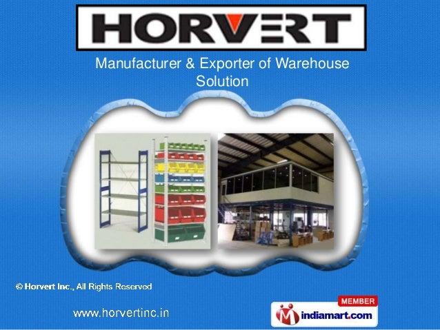 Manufacturer & Exporter of Warehouse              Solution