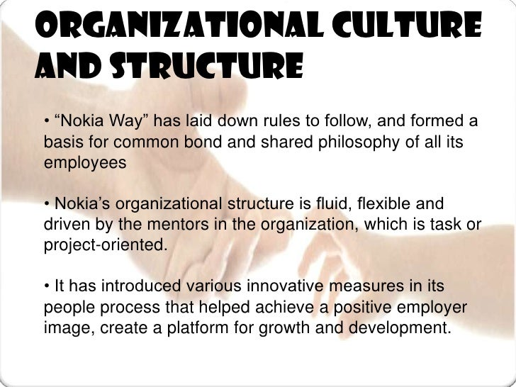The organisation culture of nokia mobile